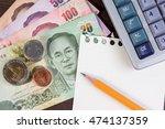 thai money  closeup of...   Shutterstock . vector #474137359