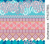 tribal seamless pattern.... | Shutterstock .eps vector #474137881