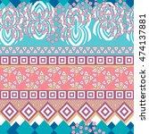 tribal seamless pattern....   Shutterstock .eps vector #474137881