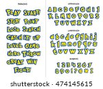 alphabet  numbers  and phrases...