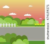 summer landscape. flat style ...   Shutterstock .eps vector #474159271