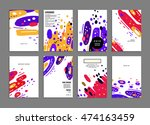 annual report brochure template ... | Shutterstock .eps vector #474163459