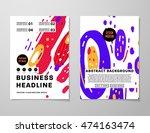 annual report brochure template ... | Shutterstock .eps vector #474163474