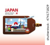 japan vector travel... | Shutterstock .eps vector #474171829