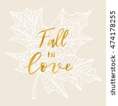 "elegant vector ""fall in love""... 