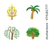 trees vector icons | Shutterstock .eps vector #474181777