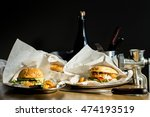 burgers on the table  mincer | Shutterstock . vector #474193519