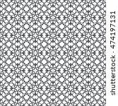 black and white seamless... | Shutterstock .eps vector #474197131