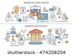 flat vector banners. marketing... | Shutterstock .eps vector #474208204