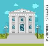 illustration municipal building ... | Shutterstock .eps vector #474211531