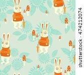 autumn. vector seamless pattern.... | Shutterstock .eps vector #474212074