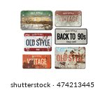 license plate isolated on white.... | Shutterstock . vector #474213445