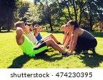 fitness  sport  friendship and... | Shutterstock . vector #474230395