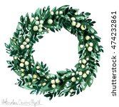 watercolor christmas clipart  ... | Shutterstock . vector #474232861