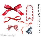 watercolor christmas clipart  ... | Shutterstock . vector #474232879