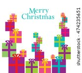 a colorful whimsical christmas... | Shutterstock .eps vector #474235651