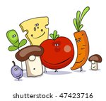 vegetables  cheese and small... | Shutterstock .eps vector #47423716