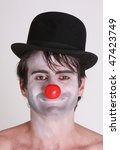 Funny Clown With Black Hat