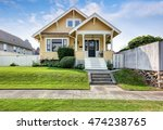 american craftsman home with... | Shutterstock . vector #474238765