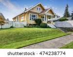 american craftsman home with... | Shutterstock . vector #474238774