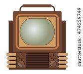 retro tv screen lcd monitor... | Shutterstock .eps vector #474239749