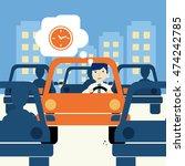 urban traffic jam concept... | Shutterstock .eps vector #474242785