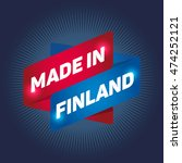 made in finland arrow tag sign. | Shutterstock .eps vector #474252121