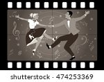 Couple Dancing 1950s Style Roc...
