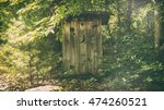Rural Outhouse. A Typical Old...
