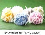colorful thai dessert coconut... | Shutterstock . vector #474262204
