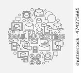 round email marketing... | Shutterstock .eps vector #474275665