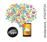 smartphone cloud mobile apps...   Shutterstock .eps vector #474279724