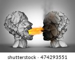 debate winner and incendiary... | Shutterstock . vector #474293551