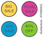 40 percent. discount set of... | Shutterstock . vector #474300421