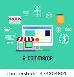 electronic commerce marketing... | Shutterstock .eps vector #474304801