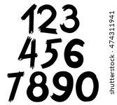 the vector of digital number in ... | Shutterstock .eps vector #474311941