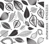 autumn leaves seamless pattern  ...   Shutterstock .eps vector #474312211