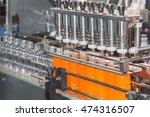 orange juice bottle on factory... | Shutterstock . vector #474316507