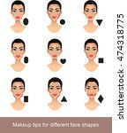 makeup for different face... | Shutterstock .eps vector #474318775