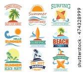 beach badges | Shutterstock .eps vector #474328999