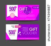 gift voucher template. for gift ... | Shutterstock .eps vector #474344887
