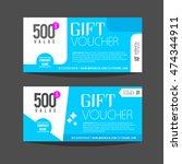 gift voucher template. for gift ... | Shutterstock .eps vector #474344911