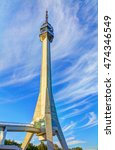 avala tower  blue sky and... | Shutterstock . vector #474346549