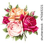 decorative vintage bouquet of... | Shutterstock .eps vector #474365221