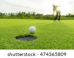 golfer action to win after... | Shutterstock . vector #474365809