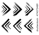 set of ink grunge arrows. hand... | Shutterstock .eps vector #474373489