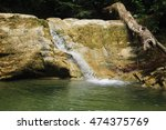 "Small photo of Waterfall ""Maiden's Tears"" Hadzhipse river in the mountains of the North Caucasus."