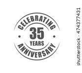 35 years celebrating... | Shutterstock .eps vector #474377431