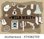large collection of cowboy... | Shutterstock .eps vector #474382705