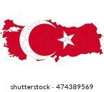 turkey country flag on white... | Shutterstock .eps vector #474389569